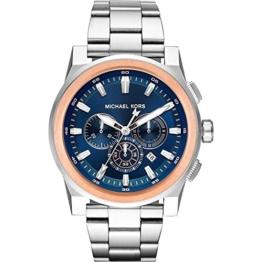 Michael Kors Herren Analog Quarz Uhr mit Edelstahl Armband MK8598 - 1
