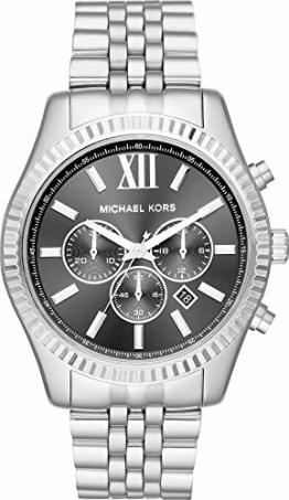 Michael Kors Herren Analog Quarz Uhr mit Edelstahl Armband MK8602 - 1