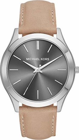 Michael Kors Herren Analog Quarz Uhr mit Leder Armband MK8619 - 1