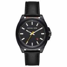 Michael Kors Herren Analog Quarz Uhr mit Leder Armband MK8632 - 1