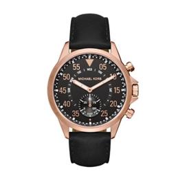 Michael Kors Herren Analog Quarz Uhr mit Leder Armband MKT4007 - 1