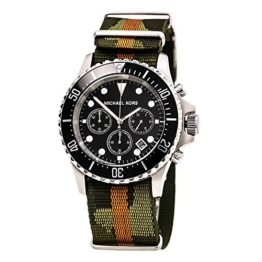 Michael Kors Herren Analog Quarz Uhr mit Nylon Armband MK8399 - 1