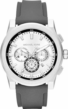 Michael Kors Herren Analog Quarz Uhr mit Silikon Armband MK8596 - 1