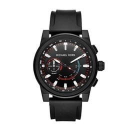 Michael Kors Herren Analog Quarz Uhr mit Silikon Armband MKT4010 - 1