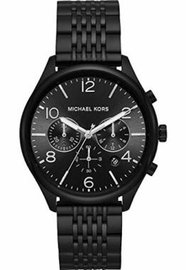 Michael Kors Herren-Armbanduhr Analog Quarz One Size, schwarz, schwarz - 1