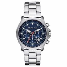 Michael Kors Herren Chronograph Quarz Uhr mit Edelstahl Armband MK8641 - 1