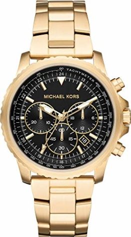 Michael Kors Herren Chronograph Quarz Uhr mit Edelstahl Armband MK8642 - 1