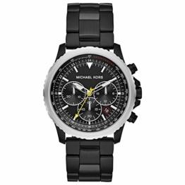 Michael Kors Herren Chronograph Quarz Uhr mit Edelstahl Armband MK8643 - 1