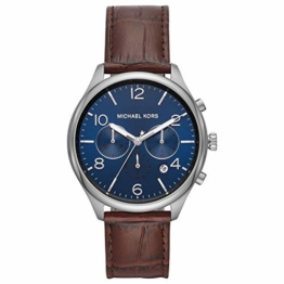 Michael Kors Herren Chronograph Quarz Uhr mit Leder Armband MK8636 - 1