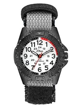 s.Oliver Unisex Kinder Analog Quarz Uhr mit Nylon Armband - 1