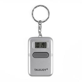 Sprechende Uhr Schlüsselanhänger Uhrzeit Wecker Sprachausgabe Blindenuhr Taschenuhr Digitale Seniorenuhr LCD Sehbehinderte - 1