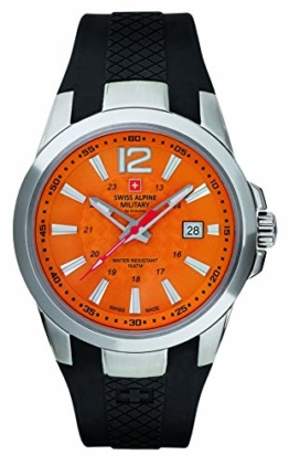 Swiss Alpine Military by Grovana Herrenuhr orange 7058.1839 10ATM Swiss Made - 1