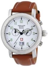 Swiss Alpine Military Herren-Armbanduhr XL AV288 Chronograph Leder 2880.9533SAM - 1