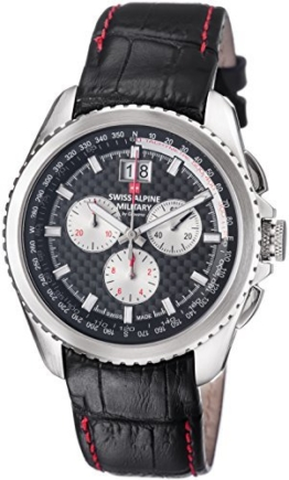 Swiss Alpine Military Herren Uhr Analog mit Leder Armband 1621.9537 SAM - 1