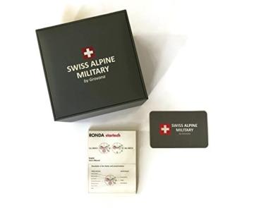 Swiss Alpine Military Red Force 7036.1867sam Schweizer Uhr Box Stahlblech PVD Pink Zifferblatt schwarz Armband Kautschuk Schwarz - 2