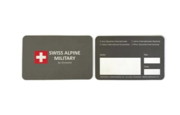 Swiss Alpine Military Red Force 7036.1867sam Schweizer Uhr Box Stahlblech PVD Pink Zifferblatt schwarz Armband Kautschuk Schwarz - 3