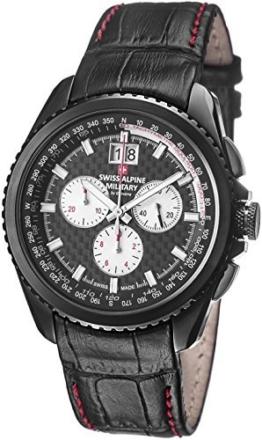Swiss Alpine Military Thunder Herren 43MM Chronograph Datum Uhr 1621.9577 Sam - 1