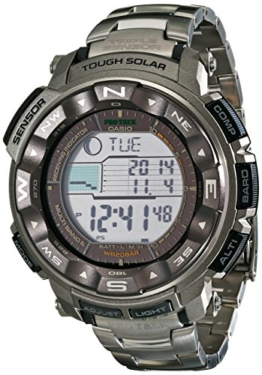 Titanium Multi-Band 6 Atomic Triple Sensor Solar Pathfinder ProTrek Digital - 1