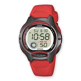 Uhr Cronometro Digital Frau Typ Crewman Gehäuse und Armband Kunstharz rot C0034 - 1