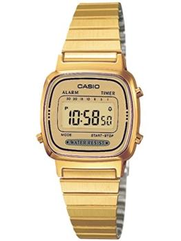 Uhr Cronometro Digital Frau Typ Retro Gurt/Armis aus Edelstahl C0038 - 1