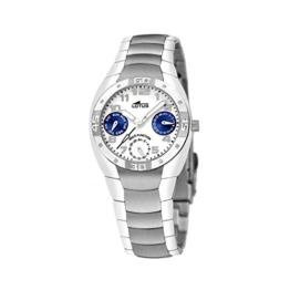Uhr Lotus Crewman Multifunktion Edelstahl. Zifferblatt/Blau 24mm W.R. 3ATM - 1