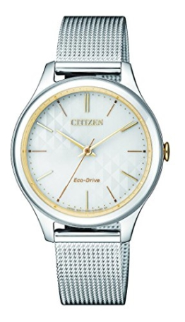 Citizen Damen Analog Quarz Uhr mit Edelstahl Armband EM0504-81A - 1