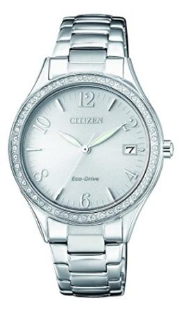 Citizen Damen Analog Quarz Uhr mit Edelstahl Armband EO1180-82A - 1