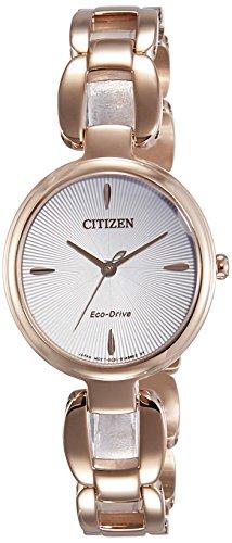 Citizen Damen Analog Quarz Uhr mit Edelstahl beschichtet Armband EM0423-81A - 1