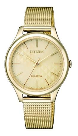 Citizen Damen Analog Quarz Uhr mit Edelstahl beschichtet Armband EM0502-86P - 1