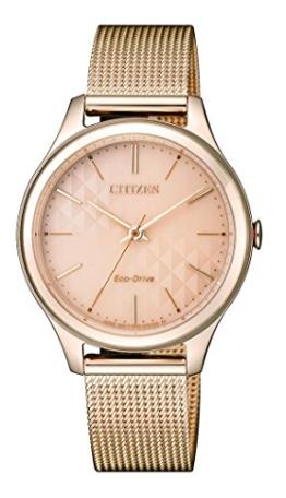 Citizen Damen Analog Quarz Uhr mit Edelstahl beschichtet Armband EM0503-83X - 1