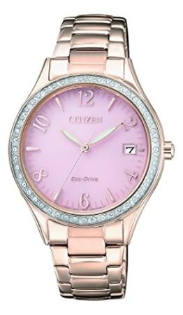 Citizen Damen Analog Quarz Uhr mit Edelstahl beschichtet Armband EO1183-84X - 1