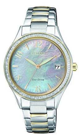 Citizen Damen Analog Quarz Uhr mit Edelstahl beschichtet Armband EO1184-81D - 1