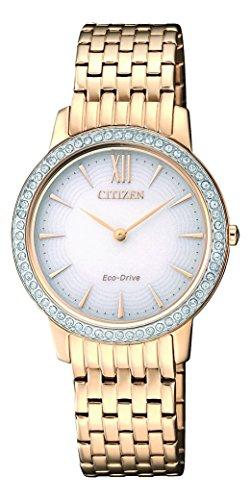Citizen Damen Analog Quarz Uhr mit Edelstahl beschichtet Armband EX1483-84A - 1