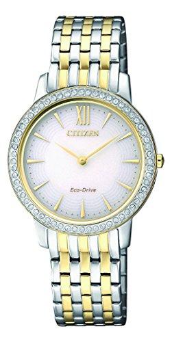 Citizen Damen Analog Quarz Uhr mit Edelstahl beschichtet Armband EX1484-81A - 1