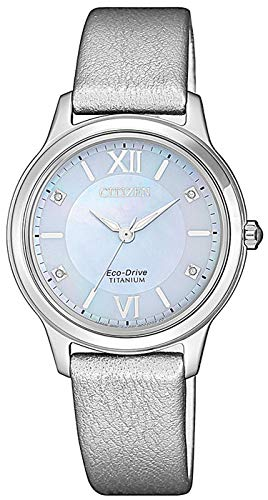 Citizen Damen Analog Quarz Uhr mit Leder Armband EM0720-18D - 1