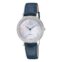 Citizen Damen Analog Quarz Uhr mit Leder Armband EX1480-15D - 1