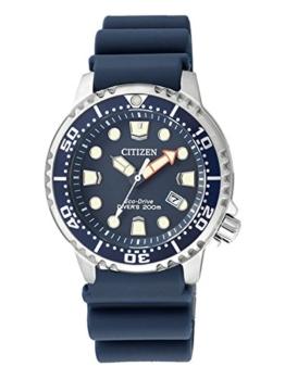 Citizen Damen Analog Quarz Uhr mit Plastik Armband EP6051-14L - 1
