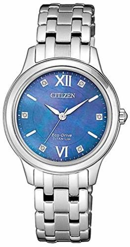 Citizen Damen Analog Quarz Uhr mit Titan Armband EM0720-85N - 1