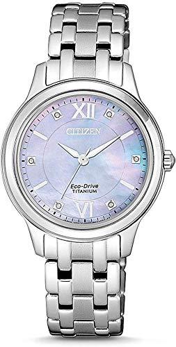 Citizen Damen Analog Quarz Uhr mit Titan Armband EM0720-85Y - 1