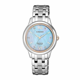 Citizen Damen Analog Quarz Uhr mit Titan Armband EM0726-89Y - 1