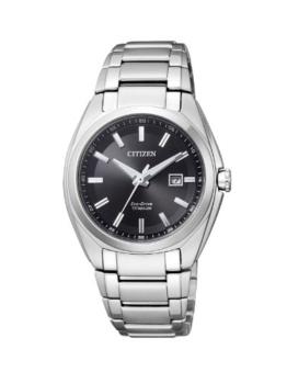 Citizen Damen Analog Quarz Uhr mit Titan Armband EW2210-53E - 1