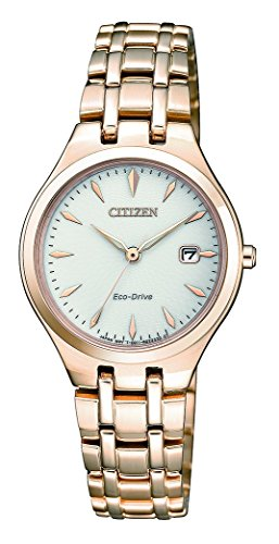 Citizen Damen Analog Solar Uhr mit Edelstahl Armband EW2483-85B - 1