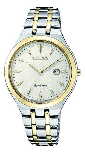Citizen Damen Analog Solar Uhr mit Edelstahl Armband EW2494-89B - 1