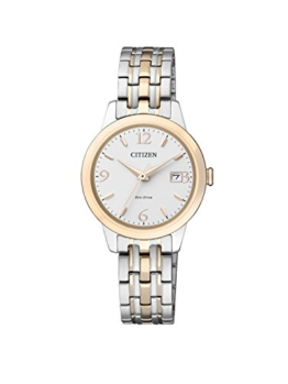 Citizen Damen-Armbanduhr Analog Quarz Edelstahl beschichtet EW2234-55A - 1