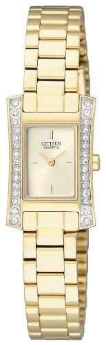 Citizen Damen-Armbanduhr Analog Quarz Edelstahl beschichtet EZ6312-52P - 1