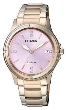 Citizen Damen-Armbanduhr Analog Quarz Edelstahl beschichtet FE6053-57W - 1