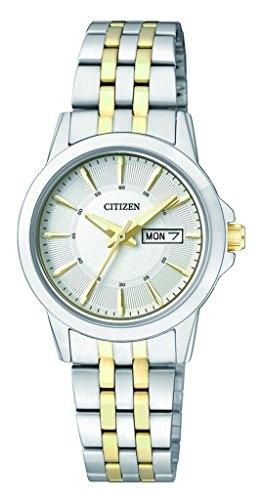 Citizen Damen-Armbanduhr Analog Quarz Edelstahl EQ0608-55AE - 1