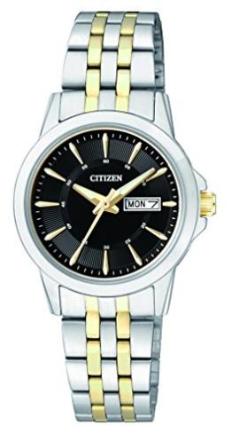 Citizen Damen-Armbanduhr Analog Quarz Edelstahl EQ0608-55EE - 1