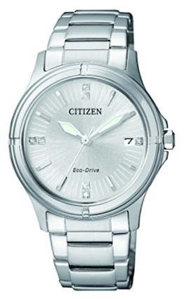 Citizen Damen-Armbanduhr Analog Quarz Edelstahl FE6050-55A - 1