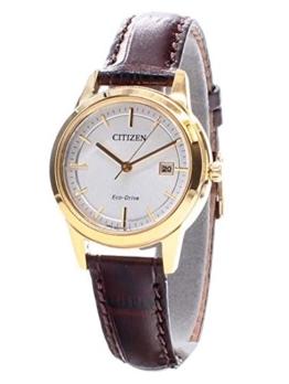 Citizen Damen-Armbanduhr Analog Quarz Leder FE1083-02A - 1